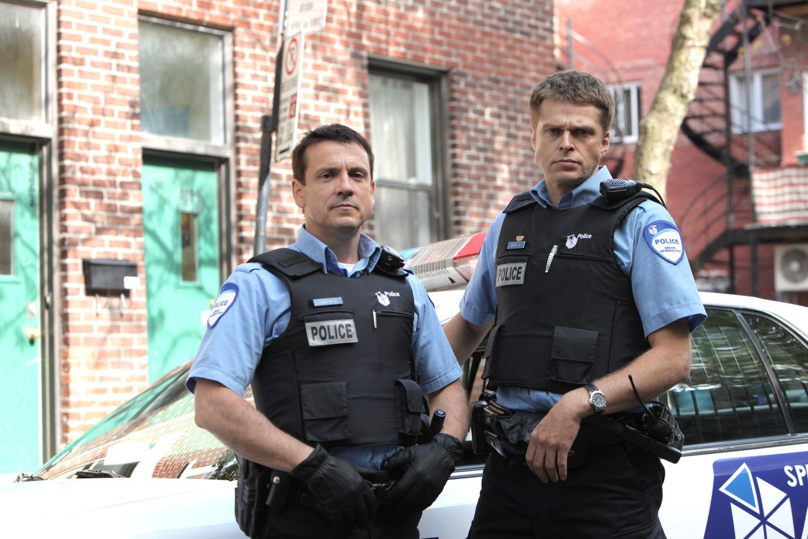 Les 2 principaux protagonistes de la série, Ben Chartier (Claude Legault)  et Nick